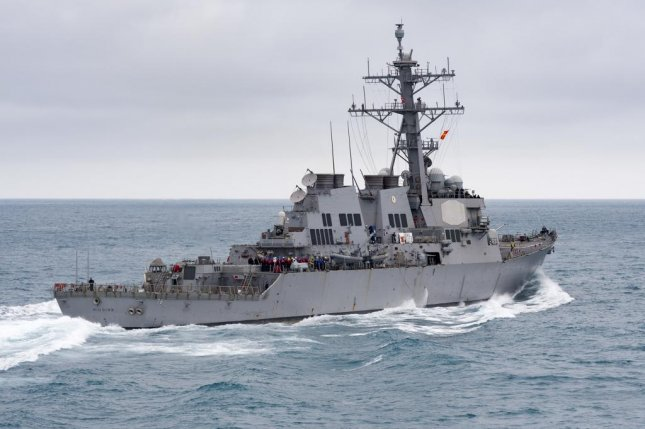 The Arleigh Burke-class destroyer USS Higgins, one of several vessels in the U.S. Navy that uses either the newer AN/SQQ-89A(V)15 or original AN/SQQ-89(V) undersea and anti-submarine warfare combat system. The new version was installed on 35 destroyers and cruisers as of December 2016. U.S. Navy photo