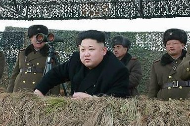 This Rodong Sinmun photo released on Jan. 27, 2015, shows North Korean leader Kim Jong-un observing the military's river crossing training. Photo: Yonhap