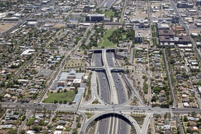 Interstate 10 looking east at the deck park tunnel in Phoenix, Ariz. Photo by Tim Roberts Photography/Shutterstock