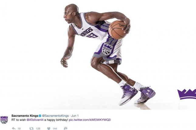 The Sacramento Kings waived forward Anthony Tolliver hours after wishing him a happy birthday. Photo courtesy of the Sacramento Kings/Twitter