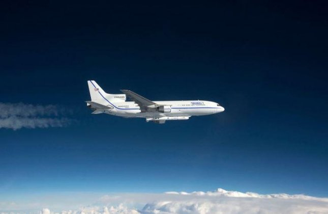 A U.S. Space Force satellite was put into earth orbit on Sunday by a Pegasus XL rocket fired from a Northrop Grumman L-1011 aircraft. Photo courtesy of Northrop Grumman