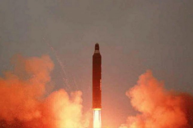 A North Korea missile launched Sunday is an upgraded SLBM, according to several sources in South Korea. Photo by KCNA