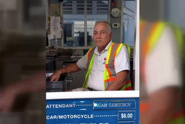 Vladislav Sam Samsonov says he was fired by the Gasparilla Island Bridge Authority for using his own money to cover a toll that came up short. NBC2 News/YouTube video screenshot