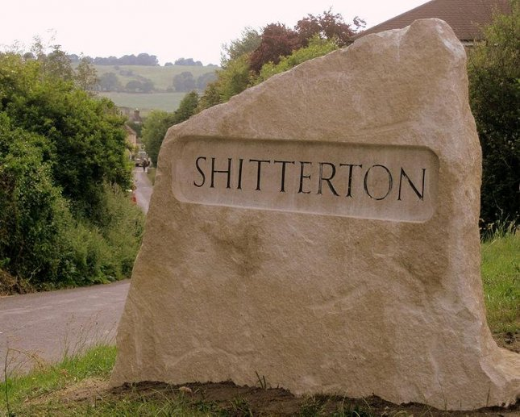 The Shitterton sign. (Jameslox/Wikimedia)