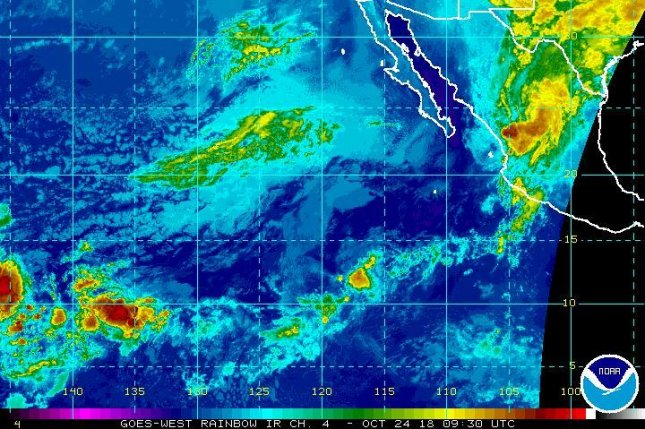 Tropical depression Willa will be passing over central Mexico Wednesday morning and could dissipate by the afternoon. Image by NOAA