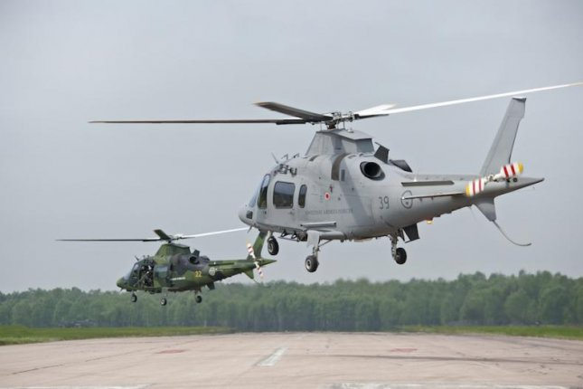 Swedish military AW109 helicopters, designated Helicopter 15s. FMV photo