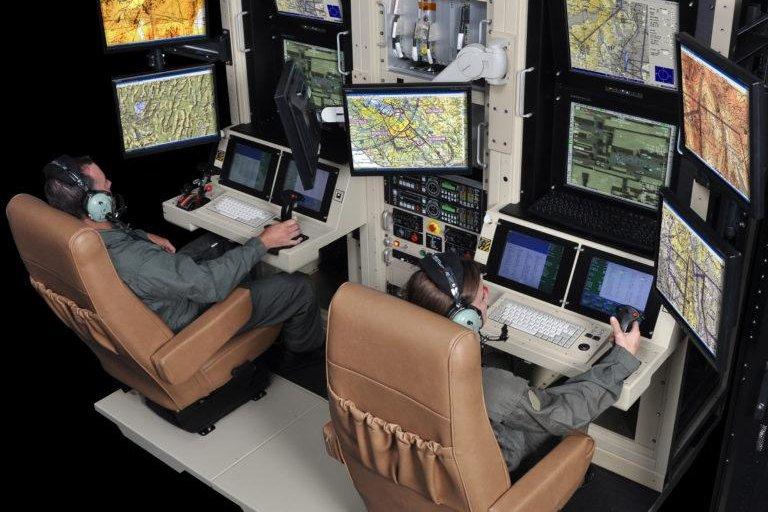 Pilots receiving training using a simulator. Photo by GA-ASI