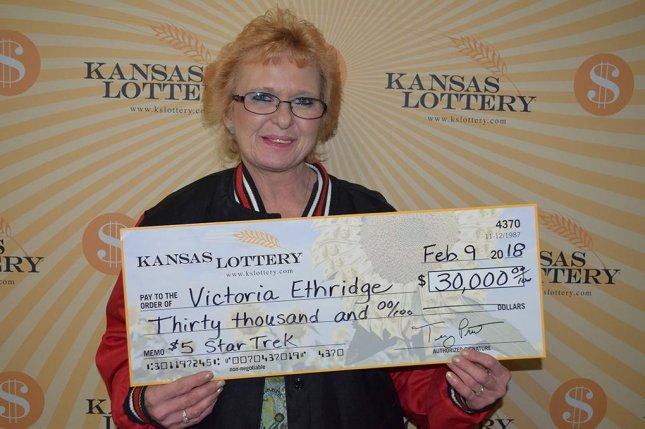 A Kansas woman said she won $30,000 from a lottery ticket she wouldn't have purchased if a clerk hadn't misheard her request. Photo courtesy of the Kansas Lottery