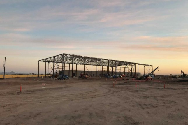Harper Construction was awarded a $57.2 million contract for multiple constructions for the Navy in Yuma, Ariz., including the renovation of Hangar 95, shown here. Photo courtesy of Harper Construction