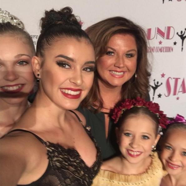 Dance Moms star Abby Lee Miller poses with some of her dancers on February 25. Photo by Abby Lee Miller/Instagram
