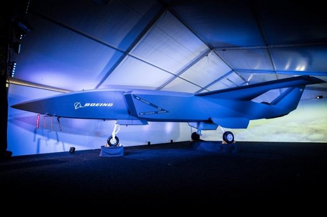 Boeing unveiled its newest unmanned drone, the Boeing Airpower Teaming System, at the Australian International Airshow in Avalon, Victoria, on Wednesday. Photo courtesy of Boeing