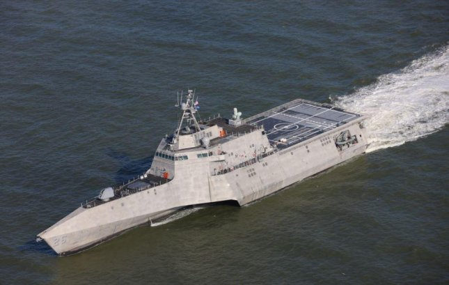 The USS Mobile, the Navy's newest littoral combar ship, will be commissioned on Saturday in a ceremony in Mobile, Ala. Photo courtesy of Austal USA