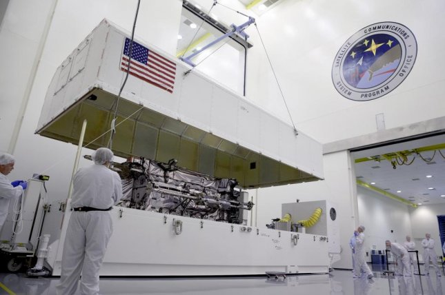 Lockheed Martin's GPS III Non-Flight Satellite prototype supports deploying GPS III satellites by mitigating risks prior to launch. Photo courtesy of Lockheed Martin