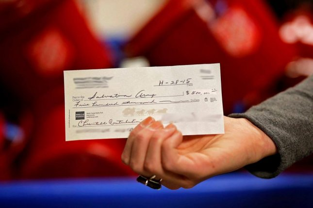 This check for $500,000 was dropped into a Salvation Army donation kettle in Minnesota. Photo courtesy of The Salvation Army North
