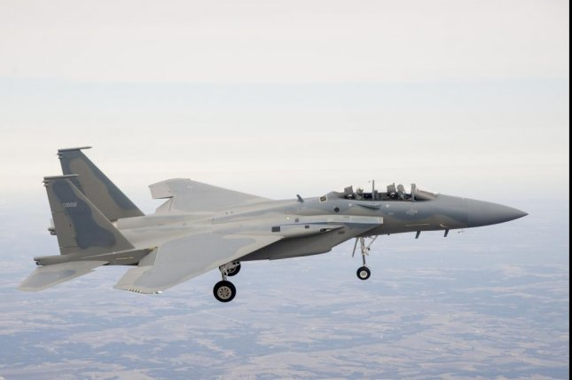 PKL Services has been awarded a $495 million U.S. Air Force contract for work on Saudi Arabia's F-15 fleet. The F-15SA is shown here in 2013 during its maiden flight. Photo courtesy Boeing