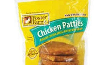 Foster Poultry Farms voluntarily recalled 131,880 pounds of frozen chicken patties because they could have been contaminated with foreign materials, the USDA announced. Photo courtesy Costco