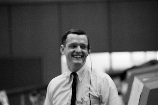Former NASA flight director Glynn Lunney, shown here in NASA's Mission Control Center during the Apollo 201 test flight in 1966, has died. File Photo courtesy of NASA