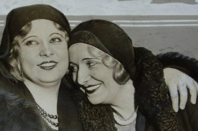 Mae West with her sister Beverly are seen in a 1930 file photo.