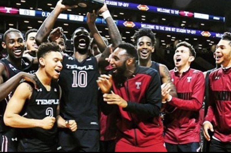 The Temple basketball team. (Temple Basketball/Instagram)