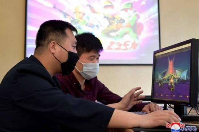 North Korea is developing more video games for the population, state media said Sunday. Photo by KCNA