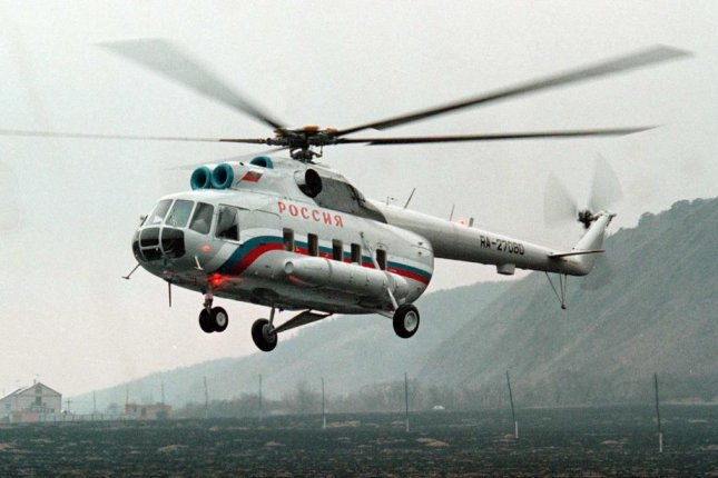 The Russian helicopter that disappeared off the coast of the Svalbard archipelago last week was an Mi-8 helicopter, the same model as the helicopter in the photograph. Photo by ScSergey Chirikov/European Pressphoto Agency