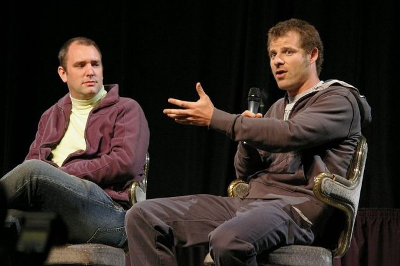 Matt Stone and Trey Parker at The Amazing Meeting in 2007, courtesy of José Ramírez via Wikimedia Commons.