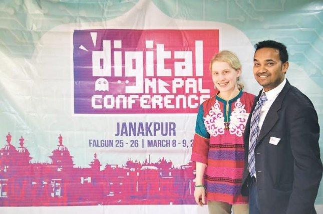 Ravi Kumar and Mia Mitchell started Code for Nepal to help people gain digital literacy skills to compete in the modern workforce. Photo courtesy of Code for Nepal
