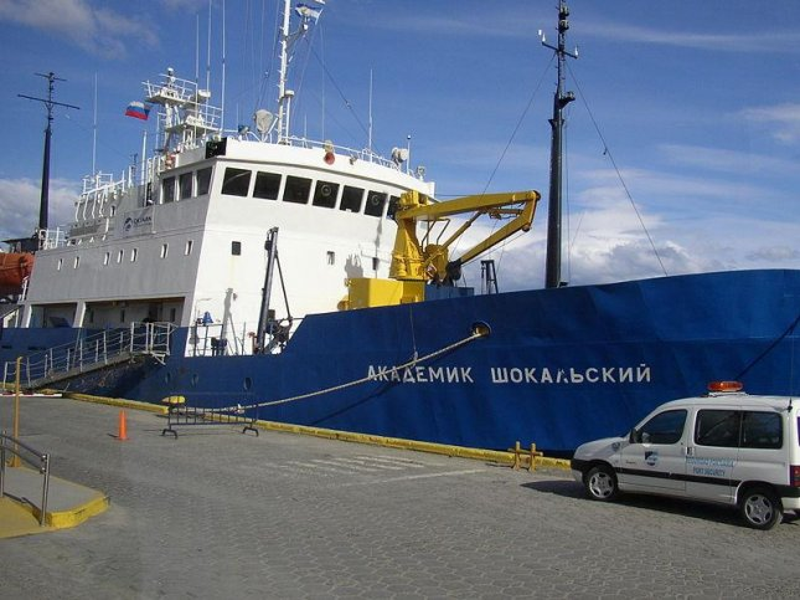 File photo of cruise ship Akademik Shokalskiy in Ushuaia harbor on February 25, 2007. File/CC/Benutzer Diedrich