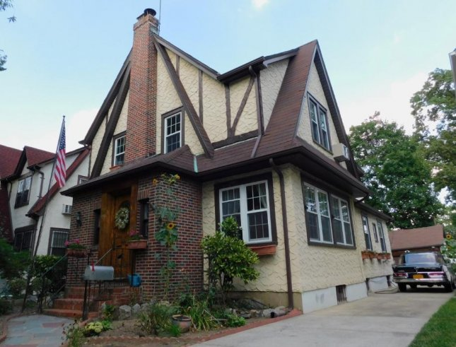 The childhood home of Donald J. Trump, in the Jamaica Estates section of New York City's borough of Queens, will be auctioned Wednesday. Photo courtesy of Paramount Realty USA