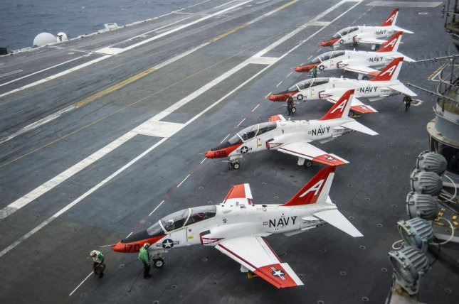 U.S. Navy officials grounded T-45C trainers for three days to investigate pilot reports of oxygen supply problems. U.S. Navy photo