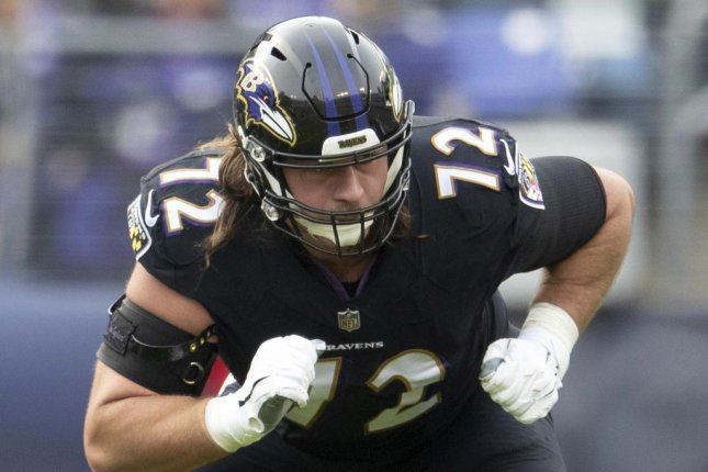Former Baltimore Ravens offensive linemen Alex Lewis was a fourth-round selection in 2016. Photo courtesy of the Baltimore Ravens