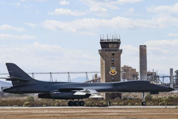 The first U.S. Air Force B-1 bomber scheduled to be scrapped, serial number 85-0066, arrived at its resting spot, Davis-Monahan Air Force Base, Ariz., on  Wednesday. Photo courtesy of U.S. Air Force