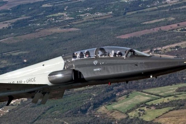 A T-38 Talon participates in the 2004 Lackland Airfest over Lackland Air Force Base, Texas. Photo by Master Sgt. Lance Cheung/U.S. Air Force