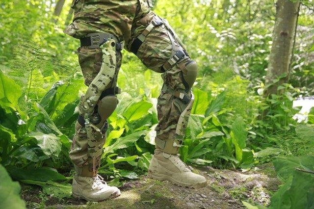 The U.S. Army plans to field test a bionic PowerWalk system next year that generates battery power from a soldier's leg movements. U.S. Army photo