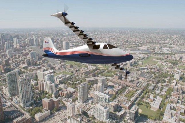 NASA said Friday it is developing a new all-electric aircraft called the X-57, which could replace small propeller-driven fuel-powered planes at some point in the future. NASA is also working on other aviation projects, including concepts for supersonic flight. Image courtesy NASA