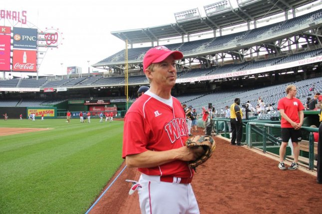 GOP Sen. Rand Paul gets ready to pitch at the 2016 Congressional Baseball Game on Thursday. Photo by Aishwarya Kumar/Medill News Service