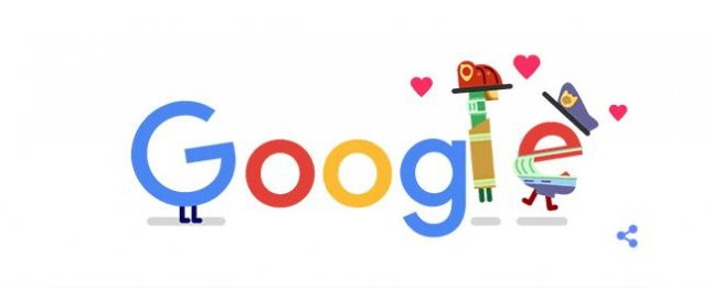 Google is honoring emergency services workers in a new Doodle. Image courtesy of Google