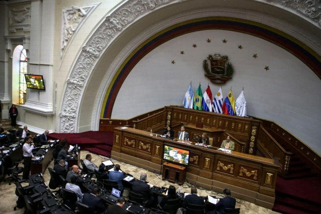 Venezuela's National Assembly, seen here in July during a session, could sue members of the Supreme Tribunal of Justice following the high court's recent ruling allowing President Nicolas Maduro to present his 2017 budget to the court, and not the Assembly. File photo by Cristian Hernandez/EPA