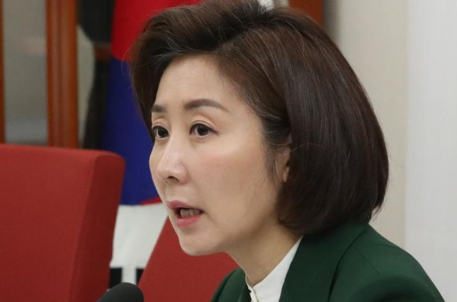 Na Kyung-won, floor leader of the main opposition Liberty Korea Party, has become more vocal in her criticism of President Moon Jae-in and the ruling Democratic Party. File Photo by Yonhap/EPA-EFE