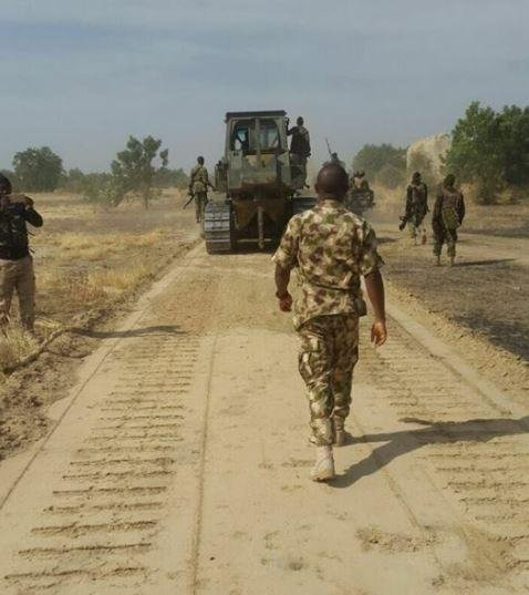 Nigerian troops on patrol in Borno state, Nigeria. Two attacks this week by Boko Haram insurgents on an army base in Sabon Gari killed eight Nigerian soldiers. Photo courtesy of the Nigerian Army