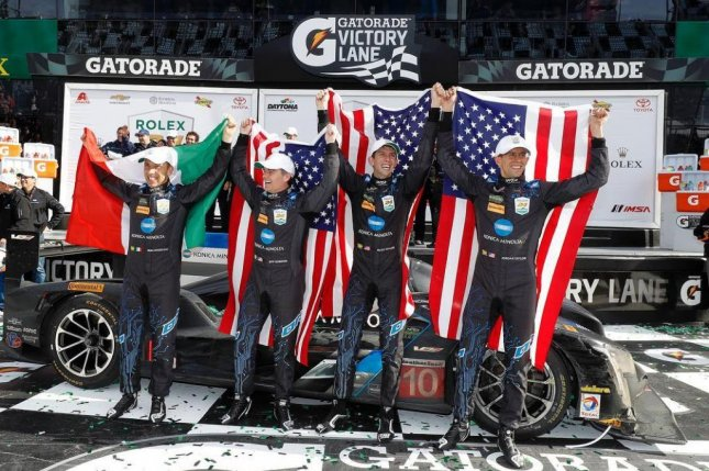 The Wayne Taylor Racing team after the Rolex 24 at Daytona International Speedway. (NASCAR/Instagram)