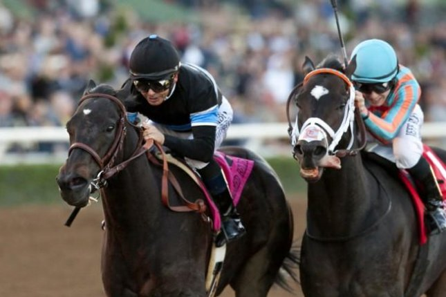 Shared Belief makes his case for U.S. Horse of the Year honors with a gritty win in the Malibu Stakes at Santa Anita. (Santa Anita photo)