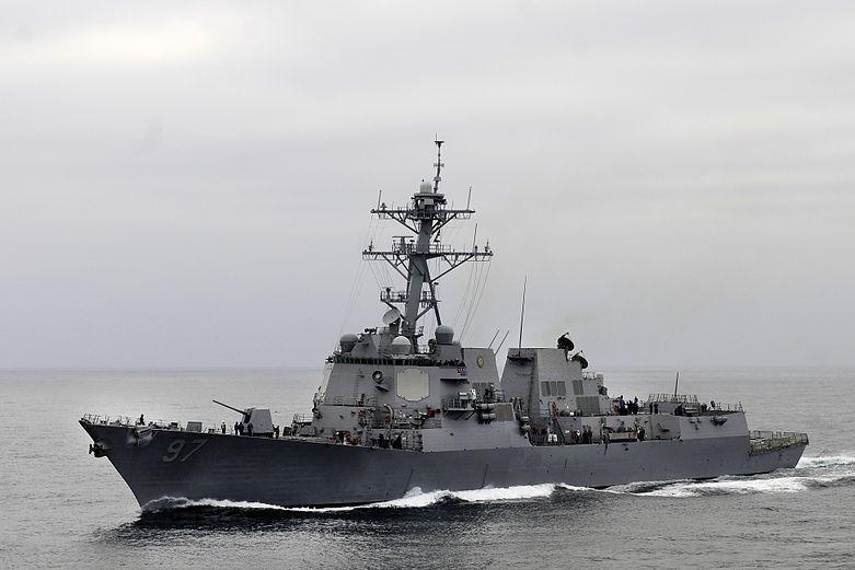 Steel cut for a new Arleigh Burke-class destroyer. U.S. Navy photo by Mass Communication Specialist Seaman John Grandin