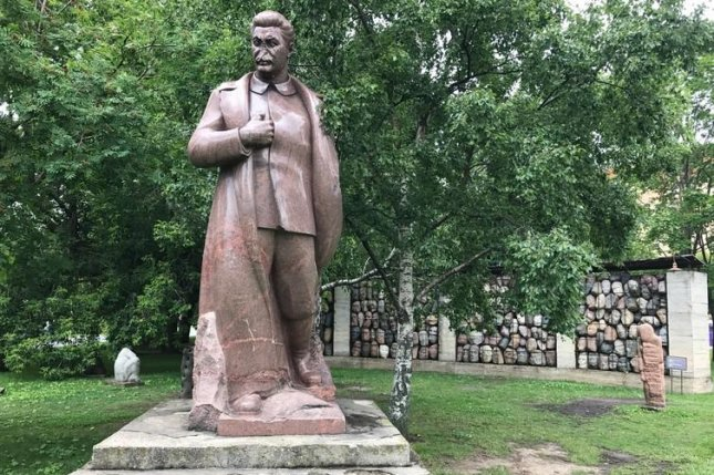 A statue of Josef Stalin is now located in a Moscow arts park. Photo by James Glaser