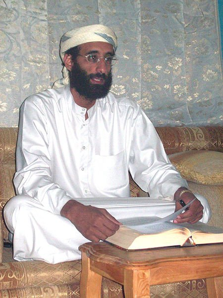 Anwar al-Awlaki in Yemen October 2008, courtesy of Muhammad ud-Deen via Wikimedia Commons.