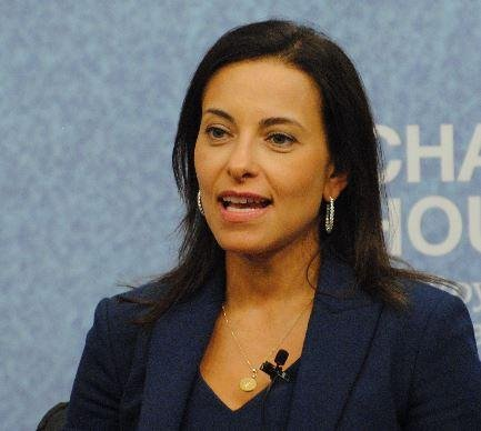 Dina Powell, Goldman Sachs global head of corporate engagement, will soon join have a position in the Trump White House, sources say. Photo courtesy of Chatham House