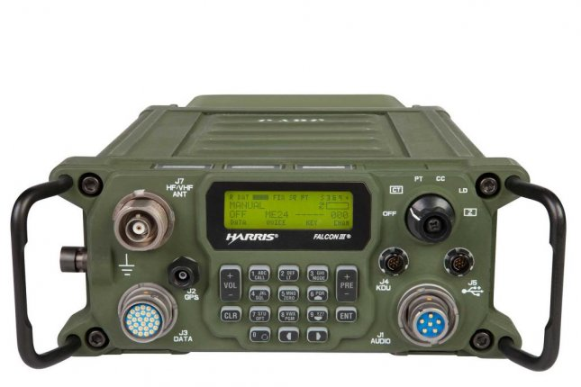 Harris Corporation's new Falcon III RF-300H radio. Photo courtesy Harris