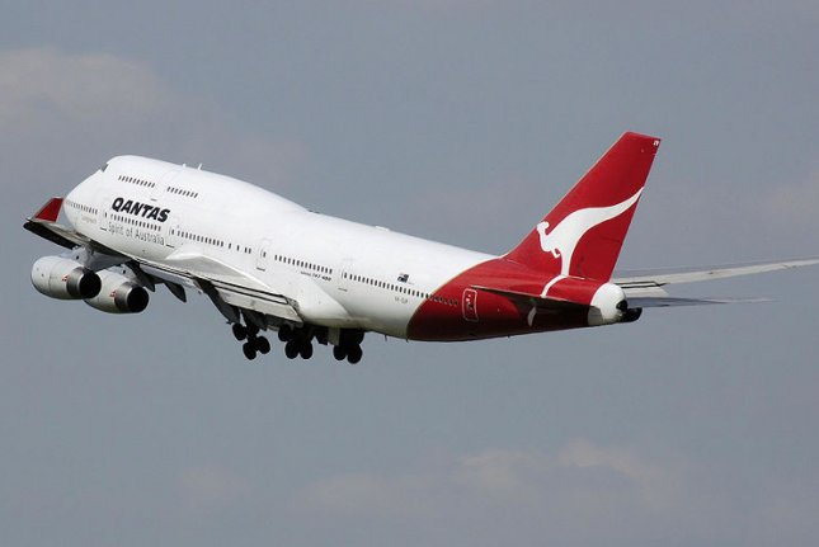 A Qantas Boeing 747-400. (UPI/Adrian Pingstone)