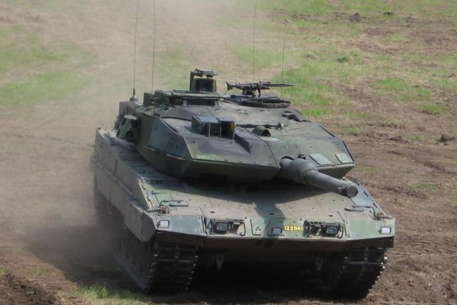 The Swedish Stridsvagn 122, tank based off the Leopard 2, may be among vehicles used in the Aurora 17 military exercise in September, which will include more than 19,000 Swedish troops and thousands from several NATO countries. Photo courtesy of Anders Legaras