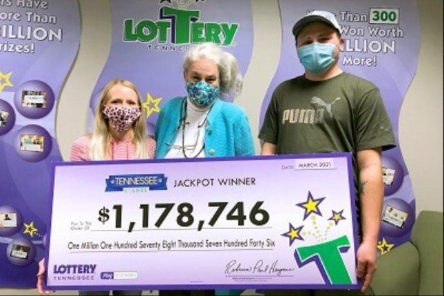 Nick Slatten, of Sparta, Tenn., said his winning Tennessee Cash lottery ticket worth more than $1 million spent an hour lying on the ground in the parking lot of a business where he dropped it. Photo courtesy of the Tennessee Lottery